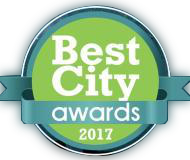 Followgreen winner for Best City Awards 2017 Badge